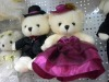 plushed and stuffed animal toys Wedding bear soft toys