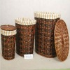 popular fashion round handmade laundry craft basket in reasonable price