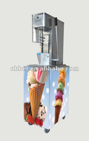 CE swirl fruit frozen yogurt mixer with mobile stand
