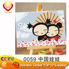 China Dolls--(10*15cm)cartoon canvas oil painting for kids' art