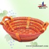 supermarket hotsale durable natural wicker fruit tray