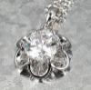 flower shape CZ stone jewelry pendant 2012