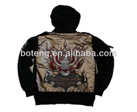 patch hood fleece top