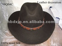 Brown fedora hats fashion with leather band and high quality 2012