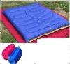 Double envelope-type sleeping bag