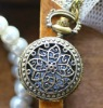 Antique style pocket watch use Japan movement geneva platinum watch japanese movement