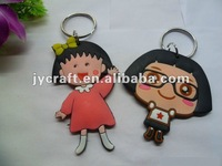 soft rubber keychain-sweet girl,Chibi Maruko Chan JY-SR002