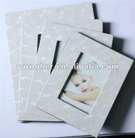 fashion wood white leather photo frame