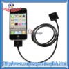 Black Extension Data Cable For iPhone / For iPod