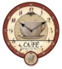 hanging wood pendulum clock decoration