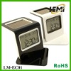 Solar clock with calendar for promotional gifts