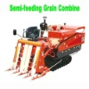 Grain Semi-feeding combine harvester