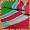 yarn dyed cotton fabric with red and green stripes pattern