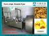 Corn tortilla chips snacks continuous belt fryer, Doritos chips frying machine