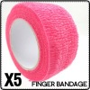 Sweety Pink Nail Flex Wrap Finger Bandage File Tape Nail Tool Gift