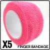 Sweety Pink Nail Flex Wrap Finger Bandage File Tape Nail Tool Gift