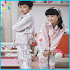100% cotton kids cloth sleeping wear pajamas sets