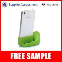 Green silicone rubber horn speaker for mobile phones