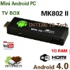 IPTV MK802 II Allwinner A10 Android 4.0 RAM 1GB ROM 4GB PC Mini TV Box Smart Android Box