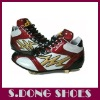 Wine red Mid-top sport shoe for baseball