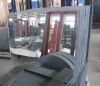 Mirror from silver coated float glass for internal use