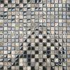 Dark Emperador Marble Mix Glass Mosaic tile