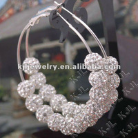 2012 Fashion Earrings, Latest Fashion Hoop Earrings KJL-ER0002