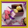 colorful wedding favor jeweiry square box