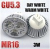 3 LED MR16 Warm/Day White 3W Spot Light Bulbs