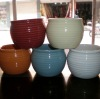 Stocked Ceramic Flower Pot- small - five colors