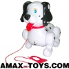 pull-8256801A electronic walking dog toy music cartoon headshake dog