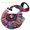 patchwork with hand printing cotton bag 192