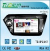 touch screen two din car pc for KIA K2