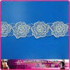 White floral wedding dress embroidery Cotton lace