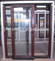 Ylj-68 Wood Aluminium Temperature-Saving and Sound Insulation Sliding Door