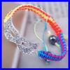 KJL-BL2871 Silver plated white crystal Mask charm shamballa crystal bracelet