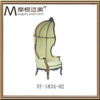 Antique old wooden linen chair YF-1834-02
