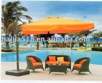 garden deluxe roman umbrella, aluminum