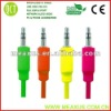 Colorful 3.5mm aux stereo cable,mobile phone aux cable(optical cable extension)