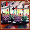 Amusement park coffee cup rides