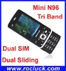 Mini N96 (Liangjian N96) Mini Dual SIM Mobile Tri Band with Dual Sliding