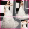 Fashion strapless satin elegant wedding dresses dewd0007