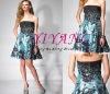 2010 Printed Off-shoulder Evening Dress(D9009)