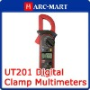 Uni-T UT201 Digital LCD Clamp Multimeter Ohm Voltmeter #6058