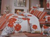 Mini-jacquard and printing bedding sets