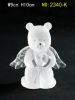polyresin pray bear figurine