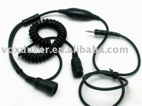 Two way radio accessory, walkie talkie accessory,clear tube , mini din Push to talk button , transceiver accessory, interphone
