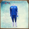 mens blue sublimation softshell jacket and pants