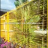 pvc yellow garden fence