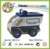 Kids Wooden Vehicle Toys Police Car